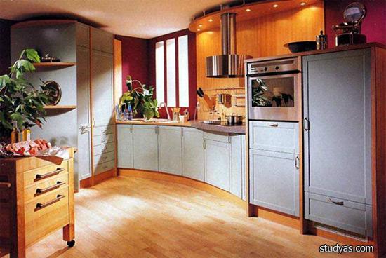 Стандартная схема цветового решения кухни.