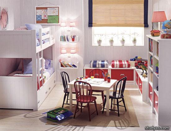 детская комната для двоих детей школа Studyascom