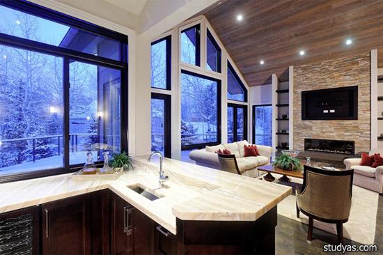 Award Winning Modern Brownish Living Room