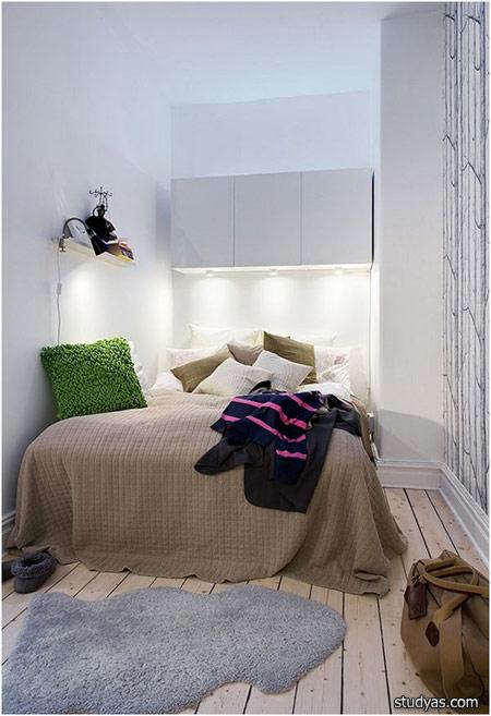 интерьер маленькой спальни школа Studyascom
