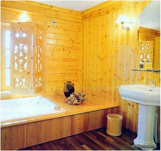 Как сделать ванную в деревне 540