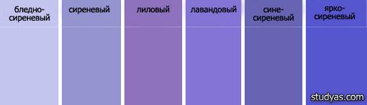 Сиреневого цвета
