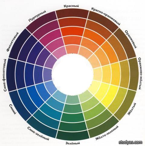 12-ти частный цветовой круг