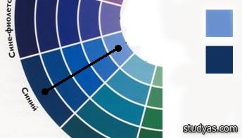 Сильный контраст цветов монохромной гаммы