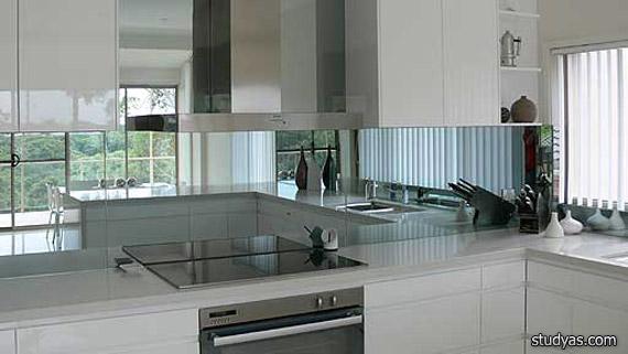Зеркало на кухне фото